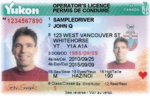 YT driver's licence